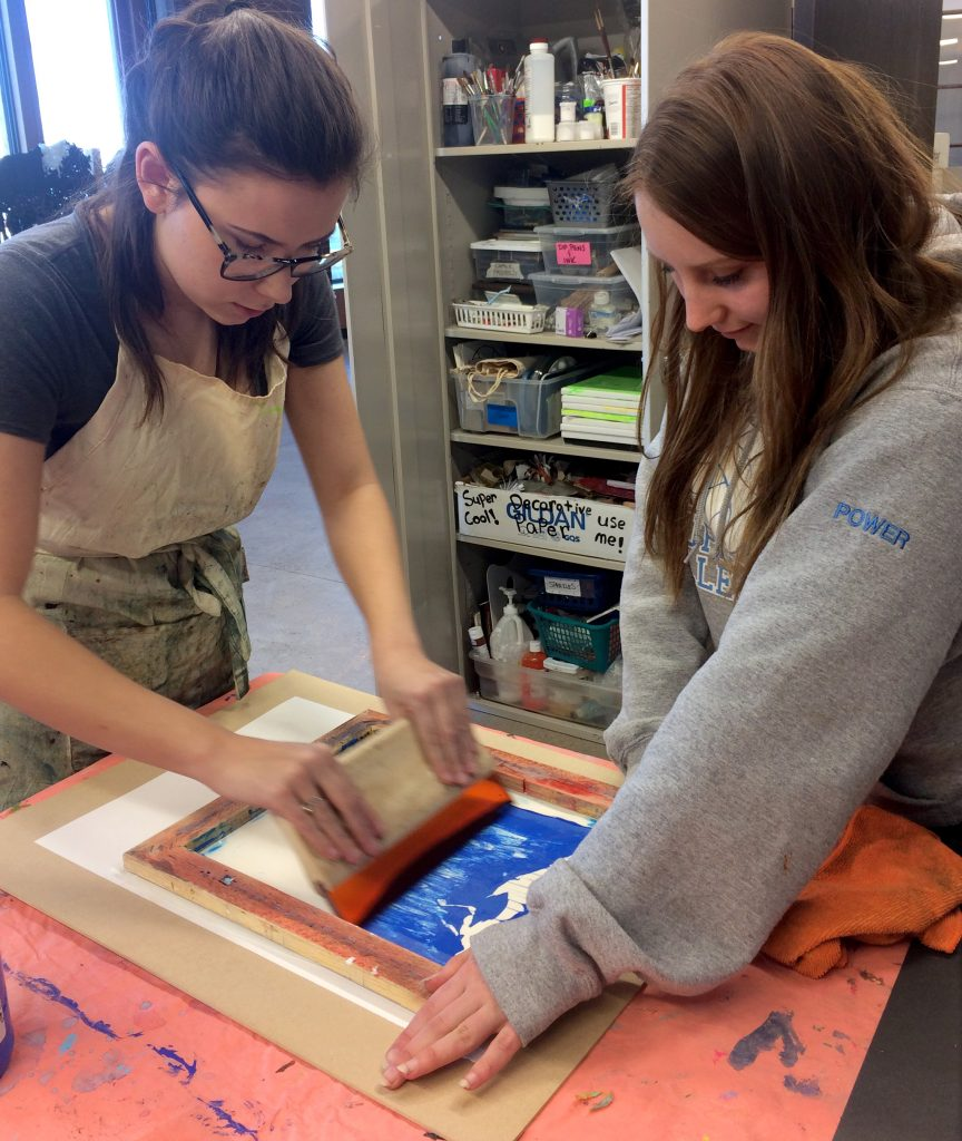 Kids screen printing class