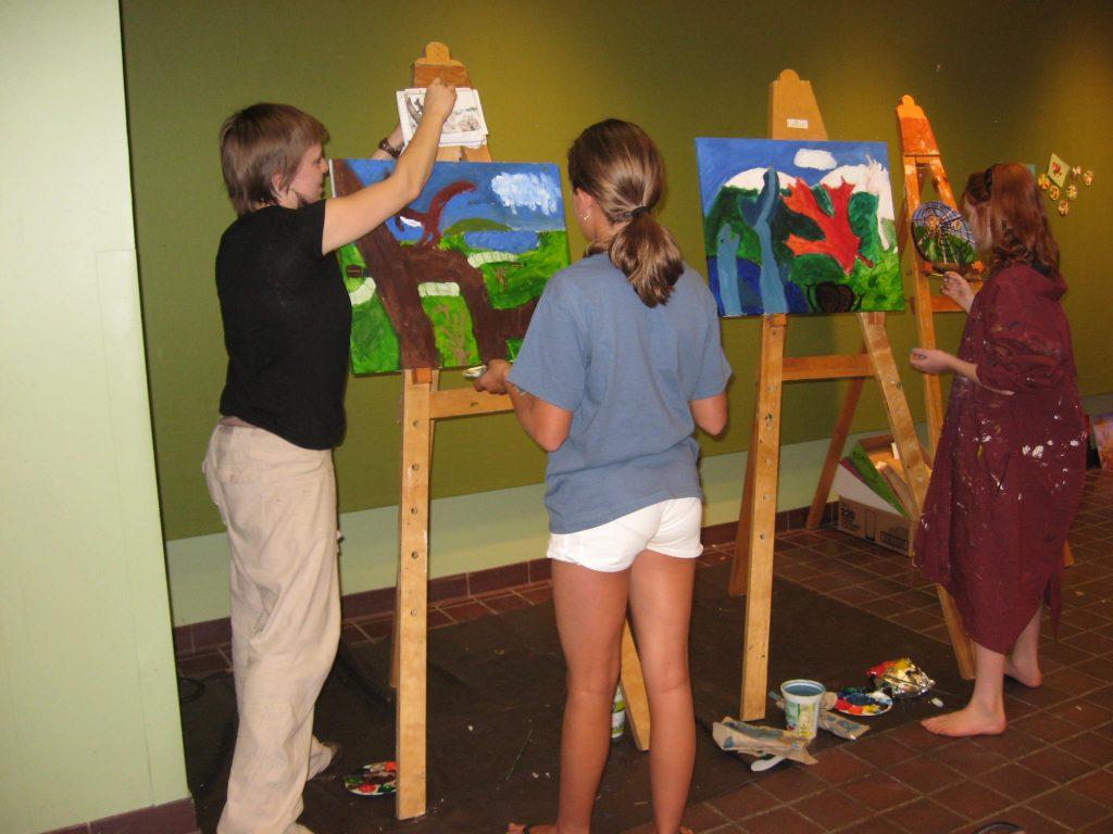 Kids landscape painting workshop