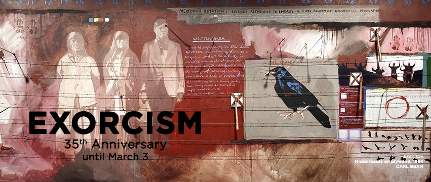 Exorcism 35th anniversary exhibition banner