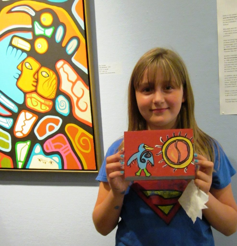 Student and her painting from Roy Thomas tour and workshop
