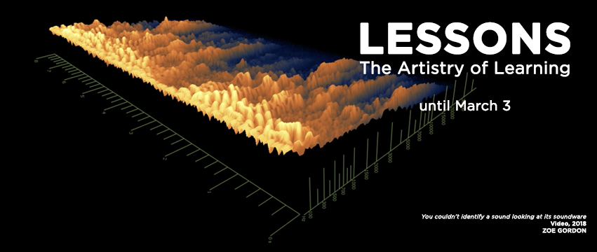 Lessons the artistry of learning banner featuring Zoe Gordon