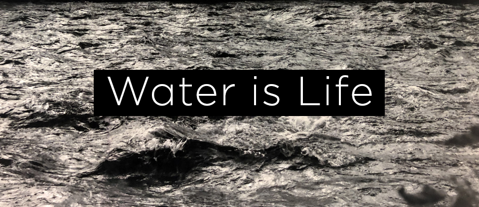 Water is Life exhibition banner