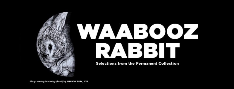 Waabooz/Rabbits selections from the permanent collection exhibition banner image