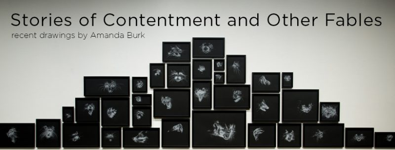 Stories of Contentment and Other Fables: recent drawings by Amanda Burk exhibition banner image