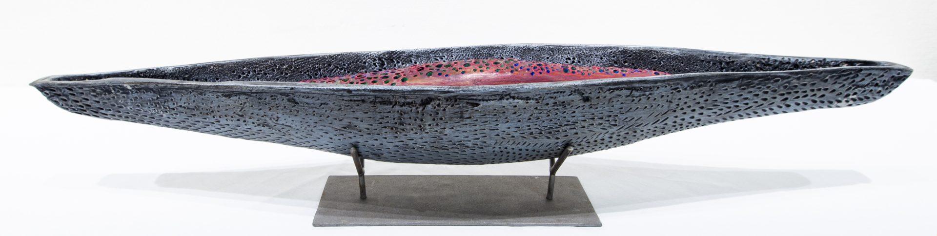 Drift Series sculpture of kayak by Sarh Link