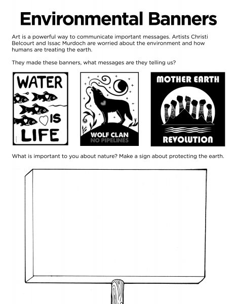 Christi Belcourt Environmental Banners Activity Sheet