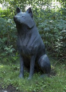 Mary Anne Barkhouse, Wolf, 1999, bronze, 114 x 77 x 78 cm,Purchased with the support of the Canada Council for the Arts Acquisition Assistance Program/Oeuvre achetée avec l'aide du programme d'aide aux acquisitions du Conseil des arts du Canada and funding from the Walter and Duncan Gordon Foundation, 2000.